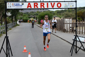 Arrivo vincitore Salvatore Franzese