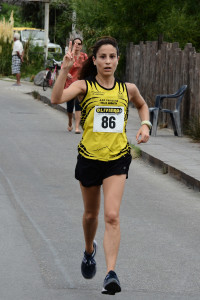Arrivo vincitrice Giorgia Cappuccio