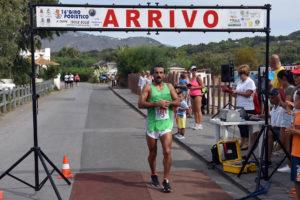 Arrivo vincitore Giuseppe Del Priore