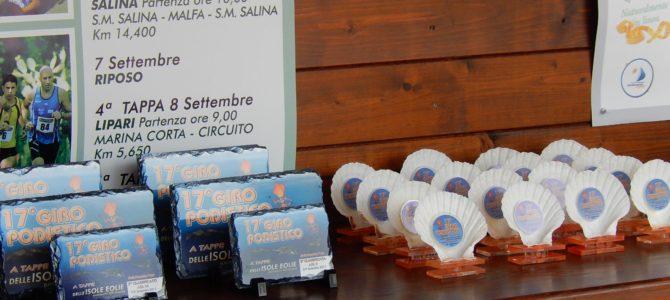 Foto Premiazione 17° Giro Podistico delle Isole Eolie